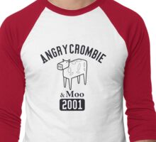 Angrycrombie & Moo Men's Baseball ¾ T-Shirt