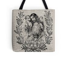 Jesus & the Lamb Psalm 91 Tote Bag