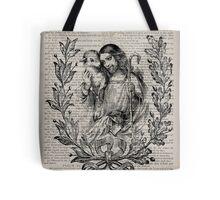 Jesus & the Lamb Psalm 91 Tote Bag