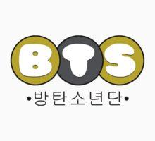 BTS/Bangtan Boys Bubbly Text Logo One Piece - Short Sleeve