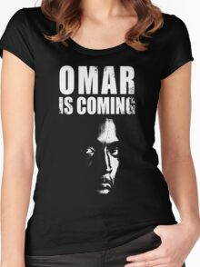 Omar is coming ! Women's Fitted Scoop T-Shirt