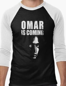 Omar is coming ! Men's Baseball ¾ T-Shirt