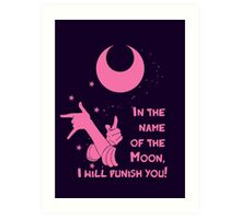 Quotes and quips - in the name of the moon, Art Print