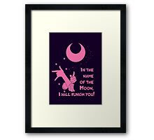 Quotes and quips - in the name of the moon, Framed Print