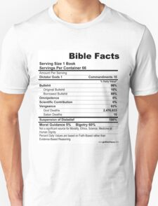 Bible Facts (stickers) Unisex T-Shirt