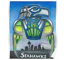 Seattle Seahawks 12th Man Skyline Poster