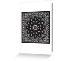 Bandana Black  Greeting Card