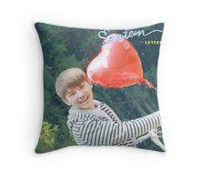 woozi seventeen Throw Pillow
