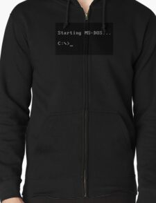 Ms-Dos Zipped Hoodie