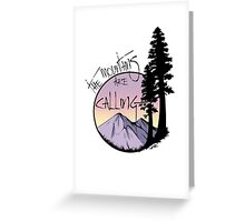 The Mountains (Colored) Greeting Card