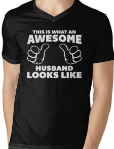 Awesome Husband Looks Like Quote Mens V-Neck T-Shirt