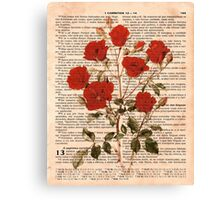 Red Roses on Corinthians Canvas Print
