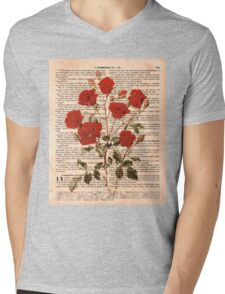 Red Roses on Corinthians Mens V-Neck T-Shirt