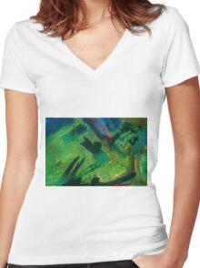 2016_GITCHADK_MALERI_PRINT_1_5 Women's Fitted V-Neck T-Shirt