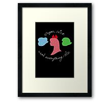 Sugar and Spice and Everything Nice Framed Print