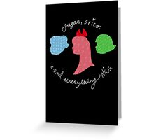Sugar and Spice and Everything Nice Greeting Card