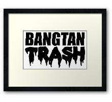 BTS/Bangtan Boys Trash Text Framed Print