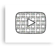 Youtube Gaming Logo Canvas Print