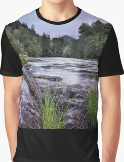 McKenzie River Just After Sunset Graphic T-Shirt