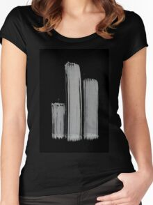 0055 - Brush and Ink - 3z3 Women's Fitted Scoop T-Shirt