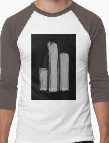0055 - Brush and Ink - 3z3 Men's Baseball ¾ T-Shirt