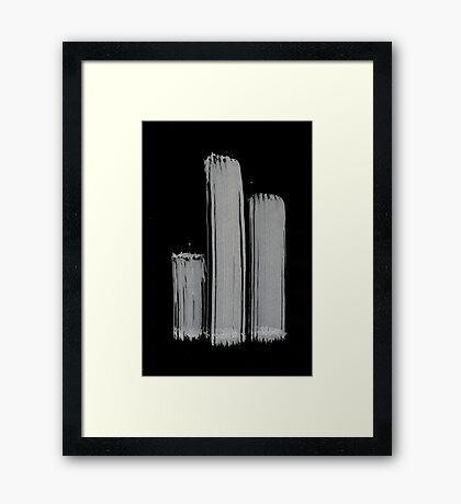 0055 - Brush and Ink - 3z3 Framed Print