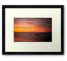 The Early Bird Watches the Sunrise Framed Print