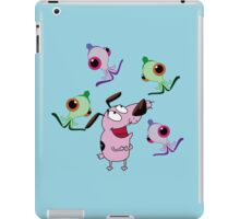 alien Courage the Cowardly iPad Case/Skin