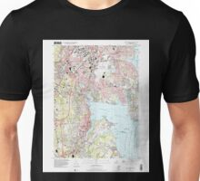 USGS TOPO Map Rhode Island RI East Greenwich 353285 1996 24000 Unisex T-Shirt