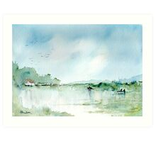 Home on the River Art Print