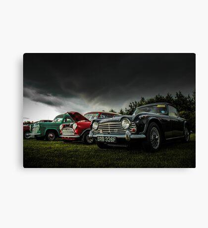 Vintage British Classic Cars Canvas Print