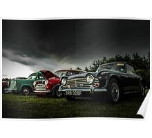 Vintage British Classic Cars Poster