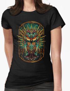 Owl - The Watcher Womens Fitted T-Shirt