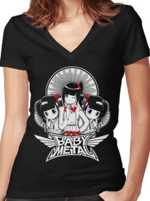 baby metal tour Women's Fitted V-Neck T-Shirt