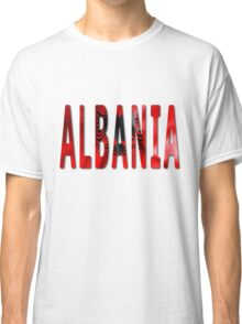 Albania Word With Flag Texture Classic T-Shirt