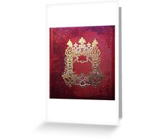 Ink Stained Crimson Book Greeting Card