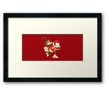 Diddy Kong - Super Smash Bros. Framed Print