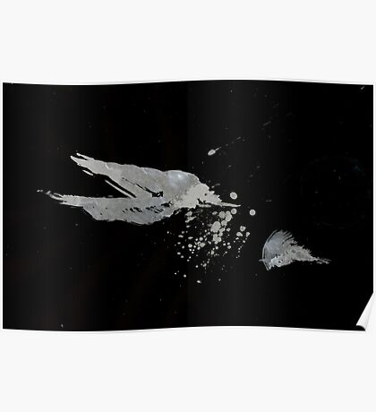 0051 - Brush and Ink - Disintegration Poster