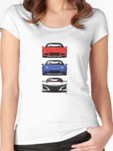 Honda NSX generations  Women's Fitted Scoop T-Shirt
