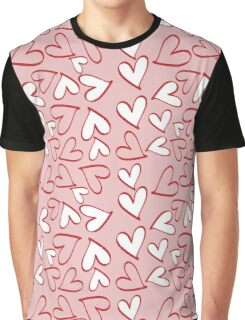 Love, Romance, Hearts - Red Pink White  Graphic T-Shirt