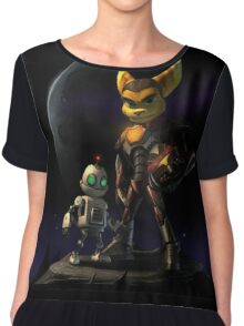 Ratchet and Clank in action Chiffon Top