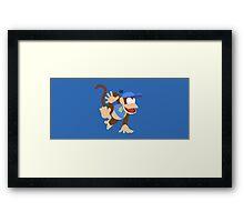 Diddy Kong (Blue) - Super Smash Bros. Framed Print