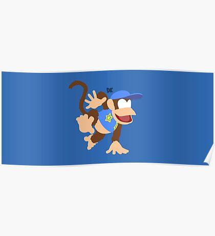 Diddy Kong (Blue) - Super Smash Bros. Poster
