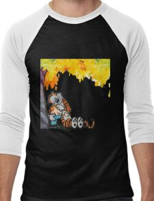 Calvin and Hobbes Under Tree Men's Baseball ¾ T-Shirt