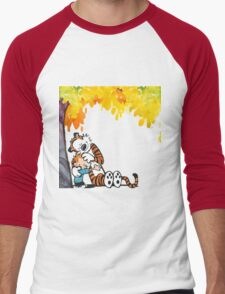 Calvin and Hobbes Under Tree Men's Baseball ¾ T-Shirt