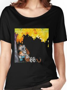 Calvin and Hobbes Under Tree Women's Relaxed Fit T-Shirt