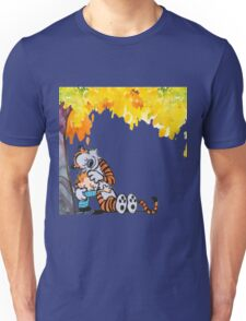 Calvin and Hobbes Under Tree Unisex T-Shirt