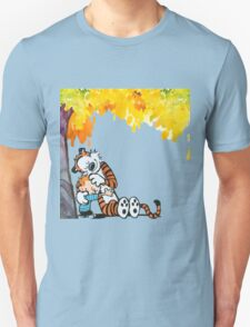 Calvin and Hobbes Under Tree Unisex T-Shirt
