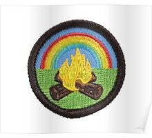 Campfire Patch Poster