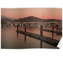 Sunset at the Marina Poster